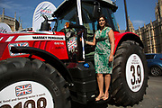 Nusrat Ghani MP at the National Farmers Union NFU took machinery, produce, farmers and staff to Westminster to encourage Members of Parliament to back British farming, post Brexit on 14th September 2016 in London, United Kingdom. MPs were encouraged to sign the NFU's pledge and wear a British wheat and wool pin badge to show their support.
