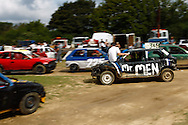 Another of the Mr Men team returns from scrutineering during the race meeting at Smallfield Raceway, Surrey, UK on the 10th of July 2011 (photo by Andrew Tobin/SLIK images)
