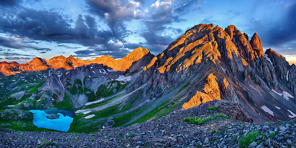 A nocturnal climb brought me here to the summit of V2 (13,309 ft.) in time for sunrise.