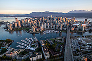 Aerial view of the city of Vancouver, British Columbia, Canada
