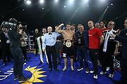 Boxen: Blitz & Donner,Supermittelgweicht, WBA Weltmeristeschaft, Hamburg, 24.03.2018<br /> Tyron Zeuge (GER) - Isaac Ekpo (NIG), Jürgen Brähmer<br /> © Torsten Helmke