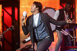 October 16, 2018 - Nashville, TN, U.S. - NASHVILLE, TN - OCTOBER 16: Luke Smallbone of for King & Country performs during the 49th Annual Dove Awards on October 16, 2018, at Allen Arena in Nashville, TN. (Photo by Jamie Gilliam/Icon Sportswire) (Credit Image: © Jamie Gilliam/Icon SMI via ZUMA Press)