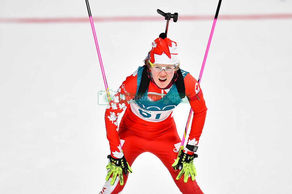 February 10, 2018 - Pyeongchang, South Korea - 180210 Emma Lunder of Canada competes in Women's Biathlon 7,5 km Sprint during day one of the 2018 Winter Olympics on February 10, 2018 in Pyeongchang..Photo: Petter Arvidson / BILDBYRN / kod PA / 87614 (Credit Image: © Petter Arvidson/Bildbyran via ZUMA Press)
