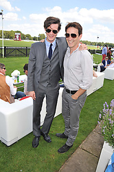 Left to right, MATT SMITH and STEPHEN MOYER at the Audi International Polo Day held at Guards Polo Club, Smith's Lawn, Windsor on 22nd July 2012.