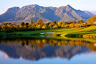 A general View of the 10th green, Montagu Course at Fancourt Golf Resort, George, Western Cape, South Africa. Designed by Gary Player. Picture Credit Phil / Inglis