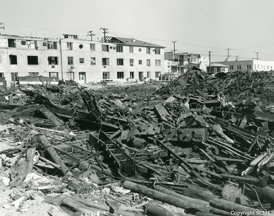 1974 Samuel Goldwyn Studios in Culver City, a day after a fire