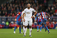 Ashley Williams, the Swansea City captain looks on with disappointment. Barclays Premier League match, Crystal Palace v Swansea city at Selhurst Park in London on Monday 28th December 2015.<br /> pic by John Patrick Fletcher, Andrew Orchard sports photography.