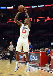November 28, 2018 - Los Angeles, CA, U.S. - LOS ANGELES, CA - NOVEMBER 28: Los Angeles Clippers Guard Lou Williams (23) shoots a three pointer during an NBA game between the Phoenix Suns and the Los Angeles Clippers on November 28, 2018, at STAPLES Center in Los Angeles, CA. (Photo by Chris Williams/Icon Sportswire) (Credit Image: © Chris Williams/Icon SMI via ZUMA Press)
