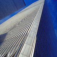 View of the World Trade Center in downtown New York City showing both towers.