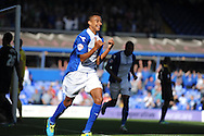 Birmingham City's Jesse Lingard celebrates after he scores his sides 1st goal during Skybet championship match, Birmingham city v Sheffield Wednesday at St.Andrews in Birmingham, England on Sat 21st Sept 2013. pic by Jeff Thomas/Andrew Orchard sports photography