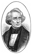 Samuel Finley Breese Morse (1791-1872), American artist and inventor. Inventor of the first functional electric telegraph , 1835 and, with Alexander Bain (1810-1977), of the Morse code. From 'The Science Record' (New York, 1873).  Wood engraving.