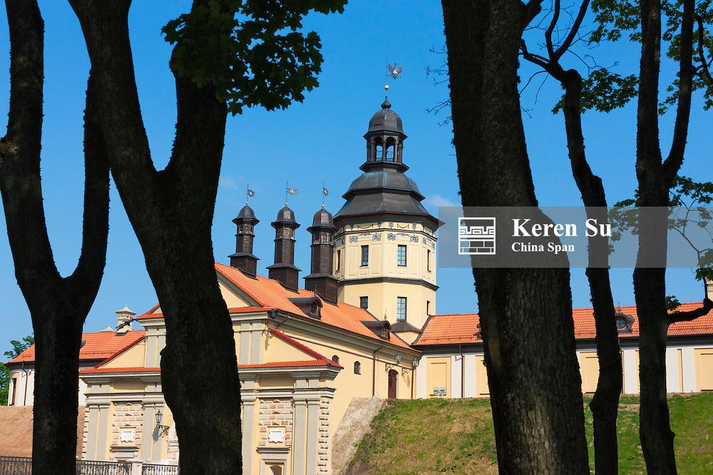 Nesvizh Castle (a residential castle of the Radziwill family), UNESCO World Heritage site, Minsk Province, Belarus