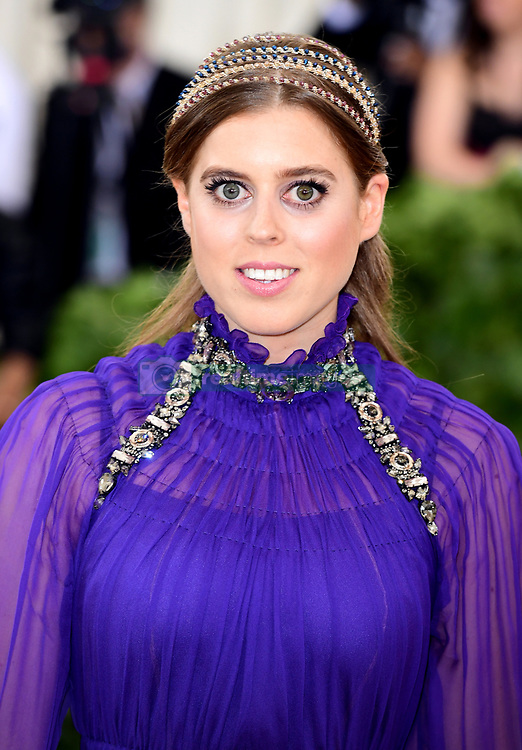 Princess Beatrice of York attending the Metropolitan Museum of Art Costume Institute Benefit Gala 2018 in New York, USA