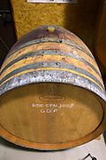 oak barrel with les grenaches de pierre 2008 domaine giraud chateauneuf du pape rhone france