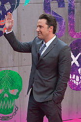 Leicester Square, London, August 3rd 2016. Hundreds of fans greet the stars of Suicide Squad at the film's European premiere in London's Leicester Square. Stars attending include: Jared Leto, Joel Kinnaman, Jai Courtney, Jay Hernandez, Adewale Akinnuoye-Agbaje, Cara Delevingne, Karen Fukuhara David Ayer (Director) Richard Suckle and Charles Roven (Producers). PICTURED: Ben Affleck