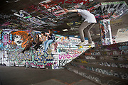 The undercroft of the foyer building of the Queen Elizabeth Hall on the South Bank has been popular with skateboarders since the early 70's and it is widely acknowledged to be London's most distinctive and popular skateboarding area. The area is used by skateboarders, BMXers, graffiti artists, taggers, photographers, buskers, and performance artists, among others. Although this informal activity, social and arts scene is a distinctive feature of the Southbank Centre site, it was proposed that the area would be redeveloped. However a statement from the Prime Minister's office may save the undercroft for these uses.