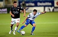Fotball , 11. september 2015 ,   Eliteserien , Tippeligaen <br /> Strømsgodset - Haugesund 5-0<br /> Søren Christensen , Haugesund<br /> Gustav Valsvik , SIF