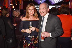 Andrea Catherwood and Alastair Stewart at the Costa Book Awards 2017 held at  Quaglino's, 16 Bury Street, London England. 30 January 2018.