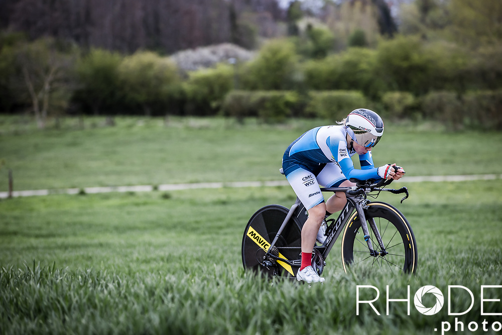 Anastasiya Kolesava (BLR/WCC)<br /> <br /> Ceratizit Festival Elsy Jacobs (LUX) 2021<br /> UCI Women Elite 2.1<br /> Day 1 - prologue : Individual Time Trial (ITT) – Cessange (LUX) 2.2km <br /> <br /> ©RhodePhoto