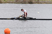 Eton, United Kingdom    GBR LM1X, Peter CHAMBERS,   the men's lightweight  single Sculls, at the Sunday Final, 2012 GB Rowing Trials, Dorney Lake. Near Windsor Berks Sunday  11/03/2012  [Mandatory Credit; Peter Spurrier/Intersport-images]