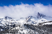 The Minarets after a winter storm, Ansel Adams Wilderness, Sierra Nevada Mountains, California USA