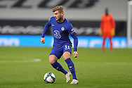 Chelsea forward Timo Werner (11) during the EFL Cup Fourth Round match between Tottenham Hotspur and Chelsea at Tottenham Hotspur Stadium, London, United Kingdom on 29 September 2020.