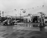 """Ackroyd 02634-1. """"West - Marquis Inc. General Petroleum Corp. Opening of new Mobilgas station at NW 19th & Thurman. January 19, 1951"""""""