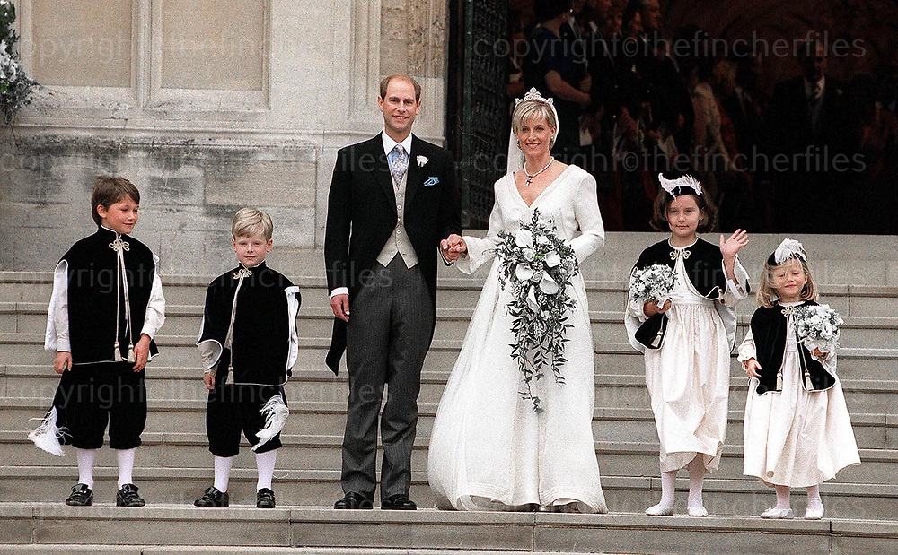 Wedding of Earl and Countess of Wessex, prince Edward and Sophie Rhys Jones at the Chapel Royal, Windsor in 2000.