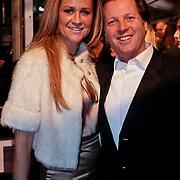 NLD/Amsterdam/20081208 - Premiere Wit Licht, Michiel mol en partner Pauline Mol - Huizinga
