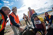 Teagan Patterson in de Seiran. In Battle Mountain (Nevada) wordt ieder jaar de World Human Powered Speed Challenge gehouden. Tijdens deze wedstrijd wordt geprobeerd zo hard mogelijk te fietsen op pure menskracht. Ze halen snelheden tot 133 km/h. De deelnemers bestaan zowel uit teams van universiteiten als uit hobbyisten. Met de gestroomlijnde fietsen willen ze laten zien wat mogelijk is met menskracht. De speciale ligfietsen kunnen gezien worden als de Formule 1 van het fietsen. De kennis die wordt opgedaan wordt ook gebruikt om duurzaam vervoer verder te ontwikkelen.<br /> <br /> Teagan Patterson in the Seiran. In Battle Mountain (Nevada) each year the World Human Powered Speed Challenge is held. During this race they try to ride on pure manpower as hard as possible. Speeds up to 133 km/h are reached. The participants consist of both teams from universities and from hobbyists. With the sleek bikes they want to show what is possible with human power. The special recumbent bicycles can be seen as the Formula 1 of the bicycle. The knowledge gained is also used to develop sustainable transport.