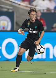July 26, 2017 - Los Angeles, California, U.S - Luka Modric #19 of Real Madrid during their International Champions Cup game with Manchester City at the Los Angeles Memorial Coliseum in Los Angeles, California on Wednesday July 26, 2017. Manchester City defeats Real Madrid, 4-1. (Credit Image: © Prensa Internacional via ZUMA Wire)
