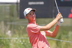 May 17, 2018 - Dallas, TX, U.S. - DALLAS, TX - MAY 17: Noah Goodwin (SMU) hits from the 8th tee during the first round of the AT&T Byron Nelson on May 17, 2018 at Trinity Forest Golf Club in Dallas, TX. (Photo by George Walker/Icon Sportswire) (Credit Image: © George Walker/Icon SMI via ZUMA Press)