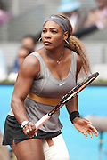 May 7, 2014 - Madrid, Spain - <br /> <br /> Mutua Madrid Open: Serena Williams<br /> <br /> Serena Williams the EEUU against Shuai Peng during the Mutua Madrid Open Masters 1.000 tennis tournament played at the Caja Magica complex in Madrid, Spain, 07 May 2014.<br /> ©Exclusivepix