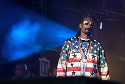 © Licensed to London News Pictures . 07/06/2014 . Heaton Park , Manchester , UK . SNOOP DOGG performs on the Main Stage at the Parklife music festival in Heaton Park Manchester . Photo credit : Joel Goodman/LNP