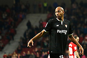 Valencia's French midfielder Steven Nzonzi reacts during the Spanish Cup, Copa del Rey quarter final, 1st leg football match between Atletico Madrid and Sevilla FC on January 17, 2018 at Wanda Metropolitano stadium in Madrid, Spain - Photo Benjamin Cremel / ProSportsImages / DPPI