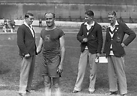 H911<br /> Aonach Tailteann Athletics - Croke Park. Australian athlete.1928. (Part of the Independent Newspapers Ireland/NLI Collection)