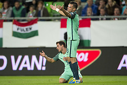 September 3, 2017 - Budapest, Hungary - Pepe and Cedric of Portugal react after next foul during the FIFA World Cup 2018 Qualifying Round match between Hungary and Portugal at Groupama Arena in Budapest, Hungary on September 3, 2017  (Credit Image: © Andrew Surma/NurPhoto via ZUMA Press)