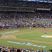 Pitcher Matt Harvey, pitching during the New York Mets Vs Kansas City Royals, Game 5 of the MLB World Series at Citi Field, Queens, New York. USA. 1st November 2015. Photo Tim Clayton