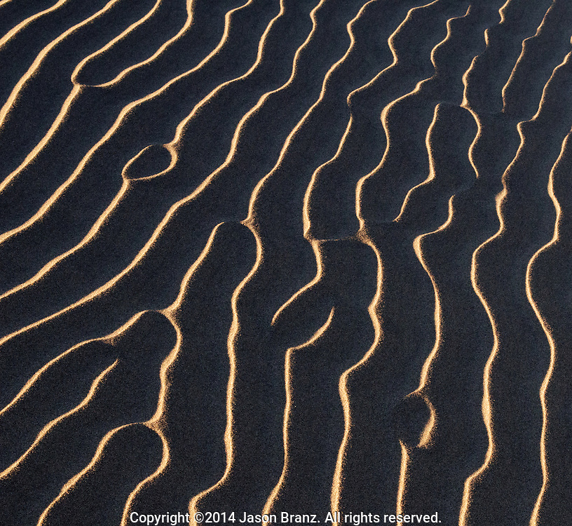 Ripples in the sand of Death Valley, California.