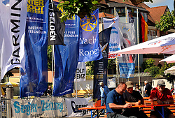 Enjoying a beer at Match Race Germany in Langenargen. Photo:Chris Davies/WMRT