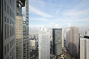 looking North from the Metropolitan Government Office building in Shinjuku, Tokyo Prefecture, Japan