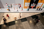 Image of people walking around the Westfield San Francisco Centre mall on Market Street in San Francisco, America west coast by Randy Wells