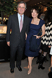 VISCOUNT & VISCOUNTESS ASTOR at the launch party for Spectator Life hosted by Andrew Neil at Asprey, 167 New Bond Street, London on 28th March 2012.