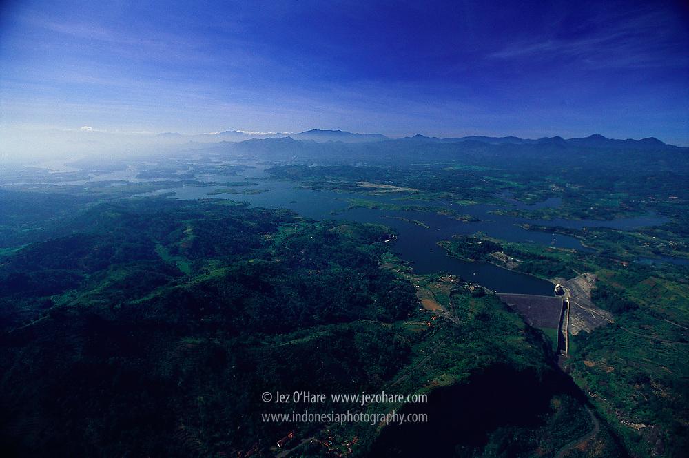 Saguling Dam & Reservoir, Bandung, Jawa Barat, Indonesia.