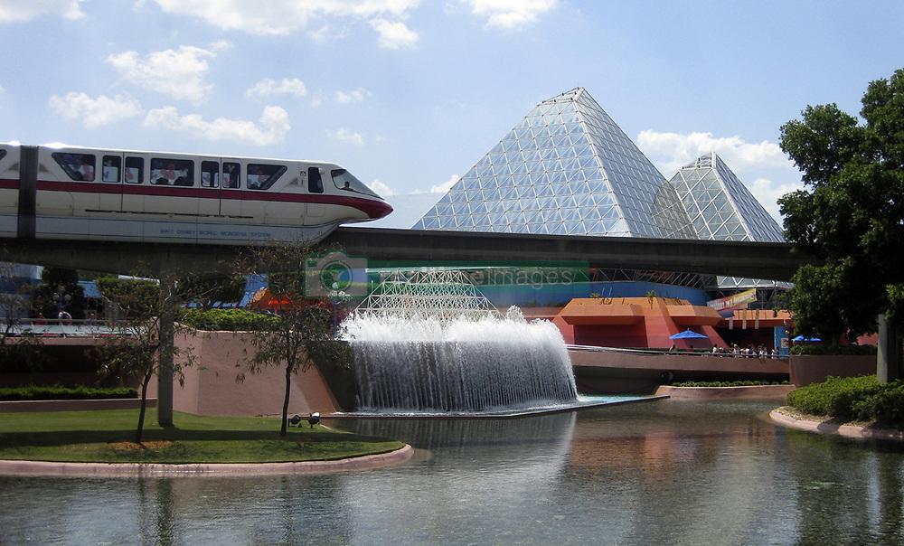 A monorail heads to Epcot theme park at Walt Disney World Resort in Orlando, Fla.  (James Lileks/Minneapolis Star Tribune/TNS/Sipa USA)