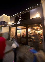 The exterior of Pour Wine Bar and Bistro, in the Montclair district of Oakland, Calif., Wednesday, Dec. 23, 2015. (Photo by D. Ross Cameron)