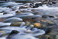 Spring runoff in Gold Creek at Golden Ears Provincial Park in Maple Ridge, British Columbia, Canada