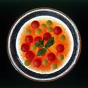 Melon and watermelon cold soup
