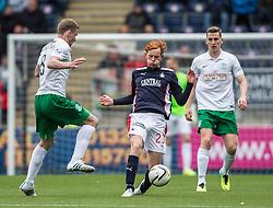 Falkirk's Scott Shepherd. <br /> Falkirk 0 v 3 Hibernian, Scottish Championship game played at The Falkirk Stadium 2/5/2015.