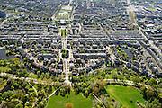 Nederland, Noord-Holland, Amsterdam, 09-04-2014; Amsterdam-Zuid, zicht op de as Valeriusplien Olympiaplein, vanuit het Vondelpark.<br /> Amsterdam South.<br /> luchtfoto (toeslag op standard tarieven);<br /> aerial photo (additional fee required);<br /> copyright foto/photo Siebe Swart